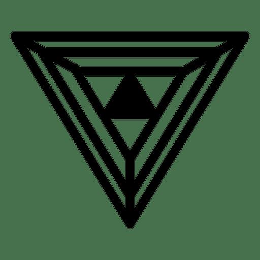 Polygonal logo geometric