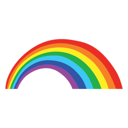 cartoon colorido do arco-íris