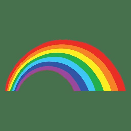 Colorful rainbow cartoon Transparent PNG
