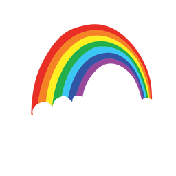 Rainbow cartoon colorful