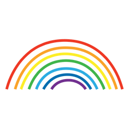 líneas de arco iris dibujados a mano
