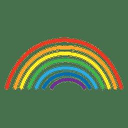 linhas de arco-íris desenhadas à mão