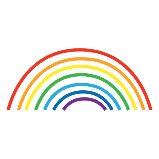 hand drawn rainbow lines Transparent PNG
