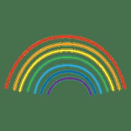 Líneas de colores del arco iris