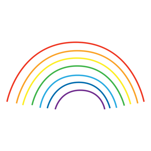 Rainbow Colorful Lines Transparent PNG