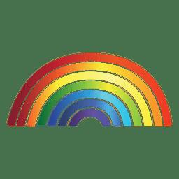 Arco-íris gradiente colorido