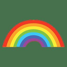 Arco-íris colorido e plano