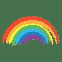 Arco-íris colorido desenhado