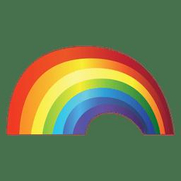 Gradiente de arco-íris colorido