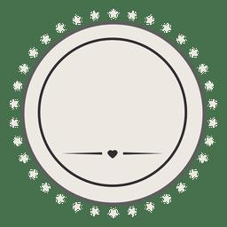 Retro Label Abzeichen