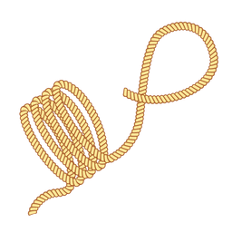 Rope navy sail