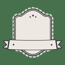 Fita de distintivo de rótulo vintage escudo