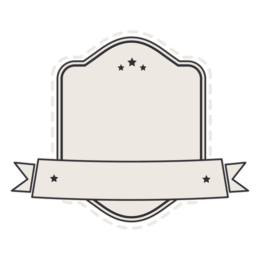 Shield vintage label badge ribbon Transparent PNG