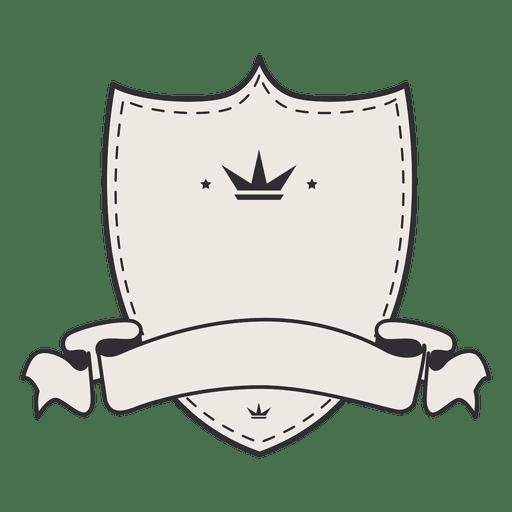 Cinta de placa de etiqueta vintage escudo en blanco