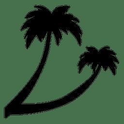 Silhueta de árvore palmeira palmeira