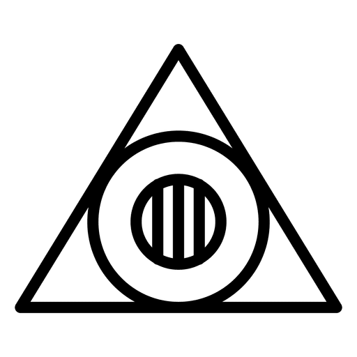 Logo triángulo plantilla geométrica poligonal Transparent PNG