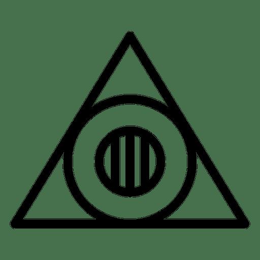 Triangle logo template geometric polygonal