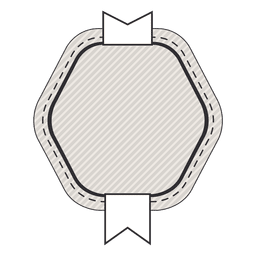 Insignia de la etiqueta de la vendimia con la cinta