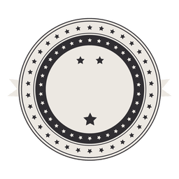 Vintage retro Label Abzeichen mit Sternen