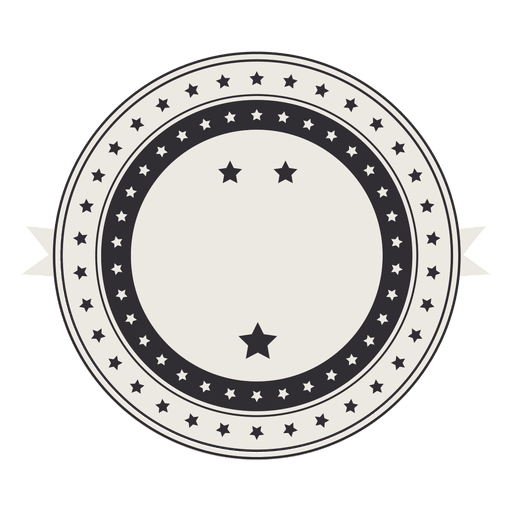 Vintage retro label badge with stars Transparent PNG