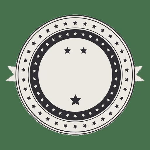Vintage retro label badge with stars
