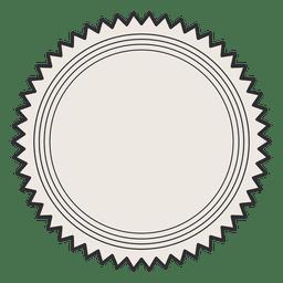 Etiqueta de la vendimia trazo de la insignia