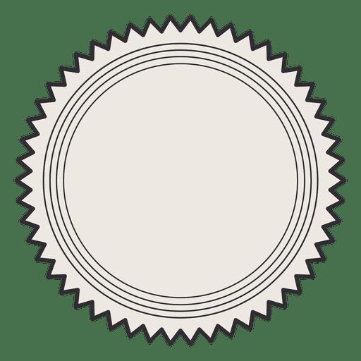 Etiqueta de la vendimia trazo de la insignia Transparent PNG