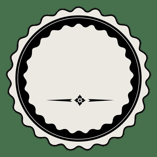 Vintage label badge template