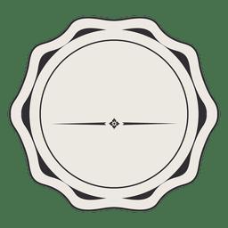 Diseño de la insignia de la etiqueta de la vendimia