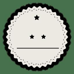 Insignia de etiqueta vintage con trazo grueso