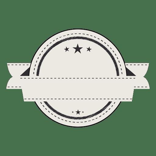 Vintage Label Blank Badge Ribbon Transparent PNG