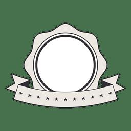 Vintage label badge ribbon