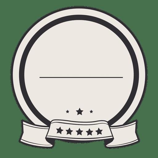 Vintage Circle Label Badge Ribbon Transparent PNG