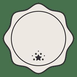 Emblema de etiqueta vintage com estrelas pequenas