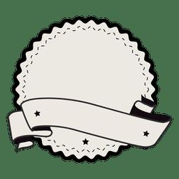 Fita de emblema de etiqueta vintage com duas estrelas