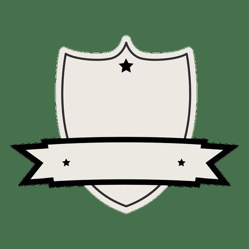 Emblema de la vendimia con la cinta de la etiqueta Transparent PNG