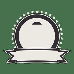 Etiqueta ou emblema vintage com fita