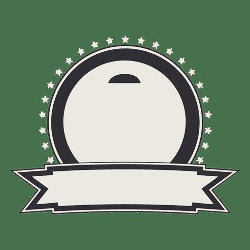 Rótulo vintage ou crachá com fita Transparent PNG