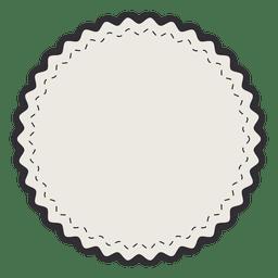 Etiqueta do vintage emblema simples