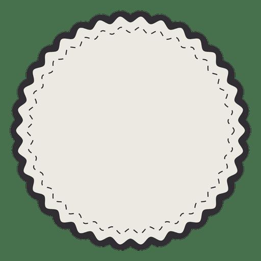 Insignia de etiqueta vintage simple