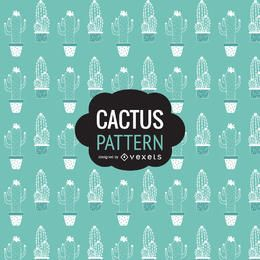 Mano patrón dibujado cactus