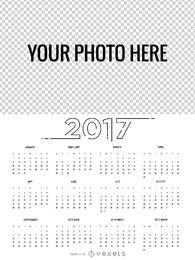 Fabricante de calendário de 2017 em vários idiomas