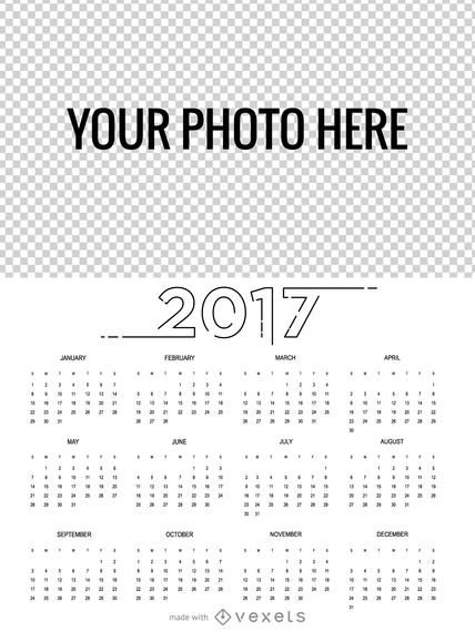 2017 Calendar maker in many languages
