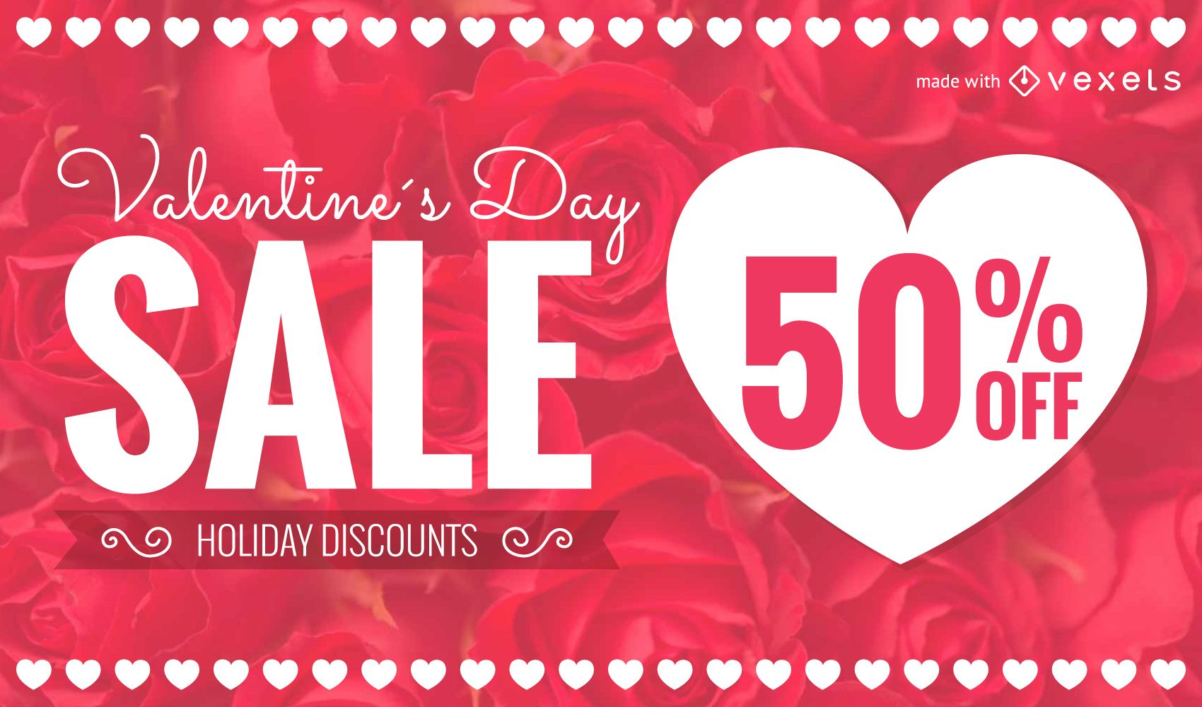 St Valentines Day sale promotion maker