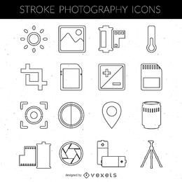 Stroke photography icon collection