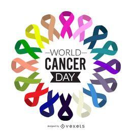 Design de cartaz do dia mundial do câncer
