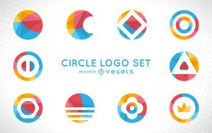 Conjunto de modelos de logotipo arredondado