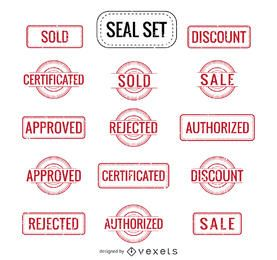 Sale Authorized Rejected and more seals set