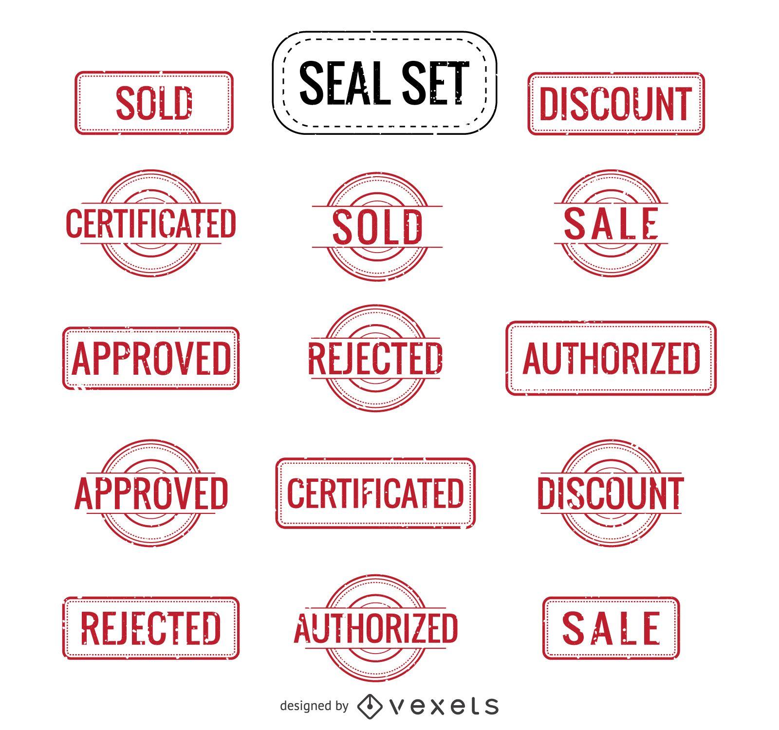 Verkauf autorisiert Abgelehnt und mehr Siegel gesetzt