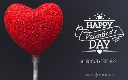 Diseño de tarjetas de San Valentín